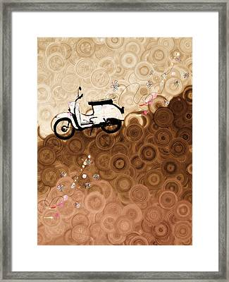 On Top Of The World Whimsy Framed Print