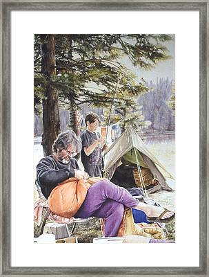 On Tulequoia Shore Framed Print