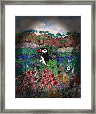 On Vacation Framed Print by Christine Mulgrew