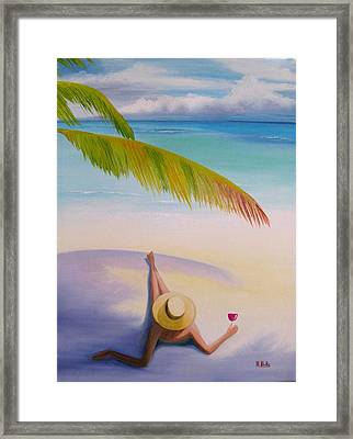 On Vacation Framed Print