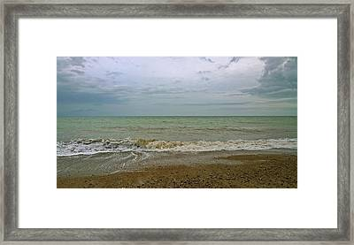Framed Print featuring the photograph On Weymouth Beach by Anne Kotan