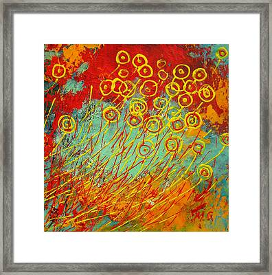 On Windy Day Framed Print