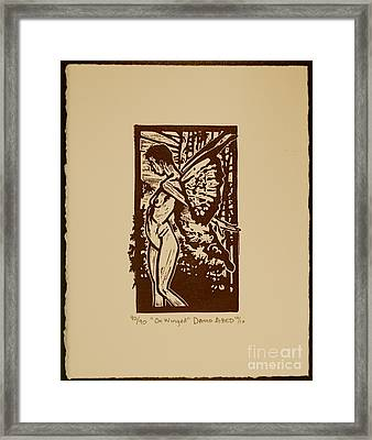 On Wing Framed Print