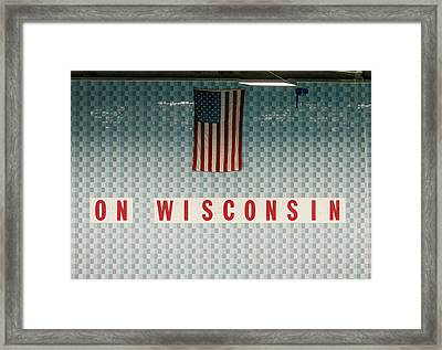 On Wisconsin  Framed Print