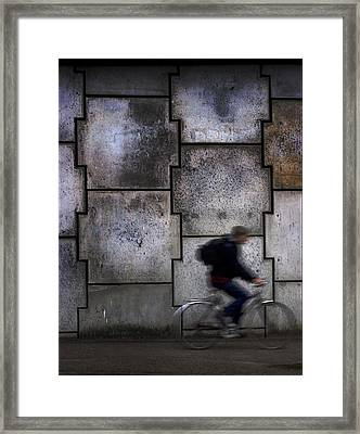 On Your Bike. Framed Print
