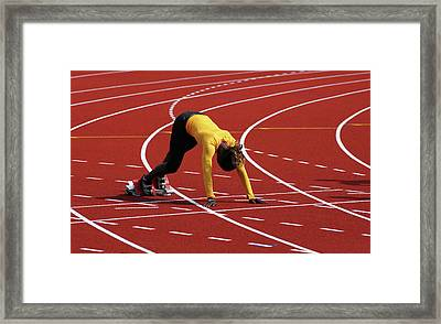 Track And Field 1 Framed Print by Bob Christopher