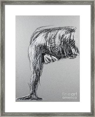On Your Mark Framed Print