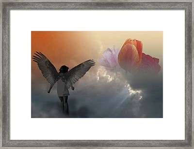 Once A Guardian Now An Invader Framed Print by Peter Fodor
