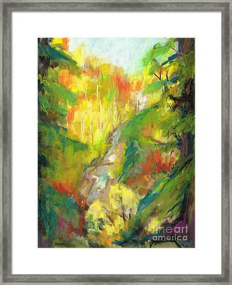 Once A Waterfalls Framed Print by Frances Marino