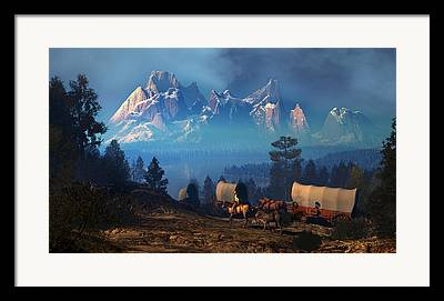Conestoga Digital Art Framed Prints