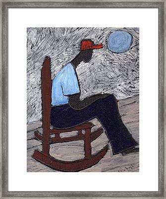 Once In A Blue Moon Framed Print by Wayne Potrafka