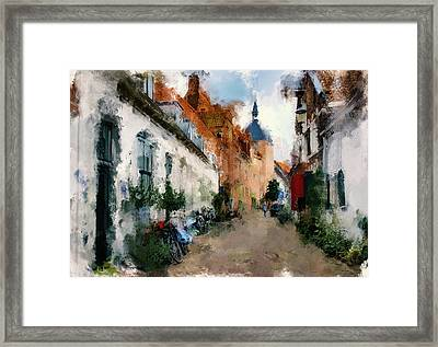 once in Europe town Framed Print