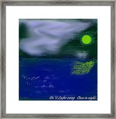 Once In Night Framed Print by Dr Loifer Vladimir