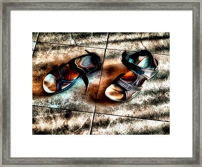Once Stood Here Framed Print by Jimmy Ostgard