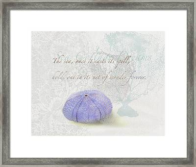 Once The Sea Casts It's Spell Framed Print