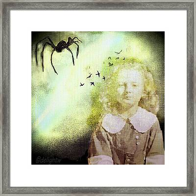 Framed Print featuring the digital art Once There Was A Spider by Delight Worthyn