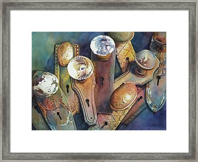 Once They Opened Doors Framed Print by Sue Zimmermann