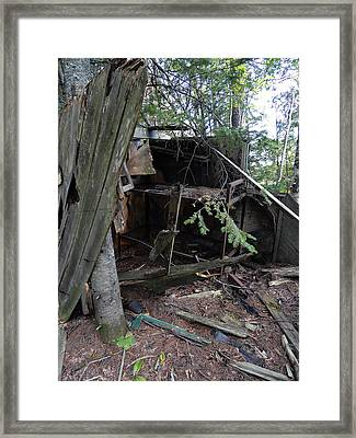 Once Upon A Cabin Framed Print by Sue Duda