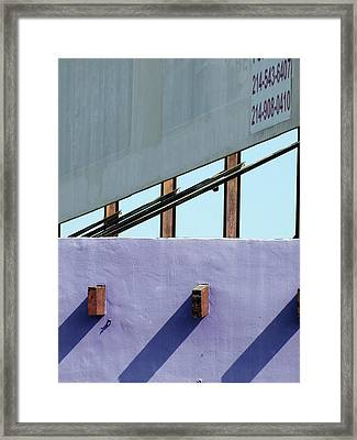 Once Upon A Rooftop Framed Print