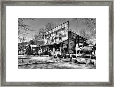 Once Upon A Story Black And White Framed Print by Mel Steinhauer