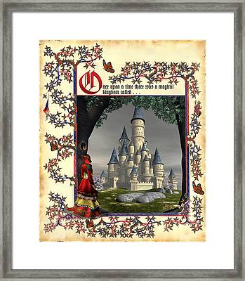 Once Upon A Time . . . Framed Print