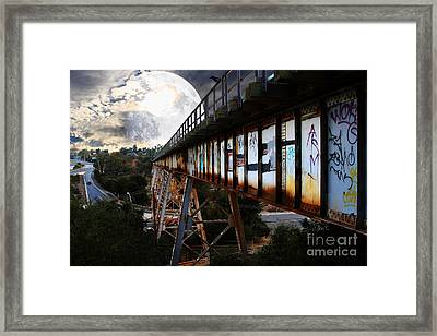 Once Upon A Time In Any Town Usa Framed Print by Wingsdomain Art and Photography