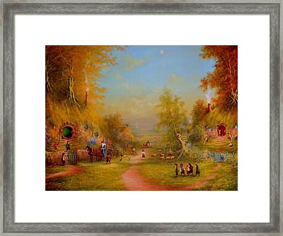 The Shire Once Upon A Time  Framed Print by Joe Gilronan