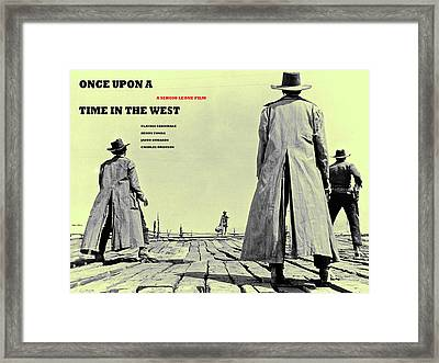 Once Upon A Time In The West, A Sergio Leone Film Framed Print by Thomas Pollart