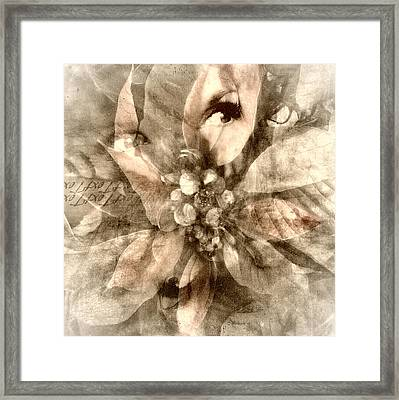 Once Upon Grandmom's Poinsettia Framed Print