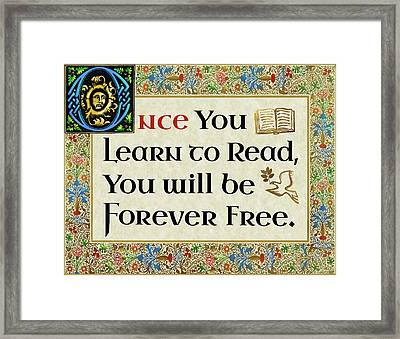 Once You Learn Framed Print by Alan Steele