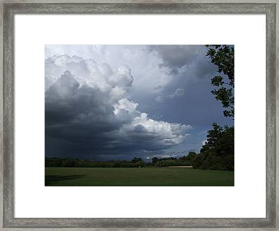Oncoming Storm Framed Print by Deborah Brewer