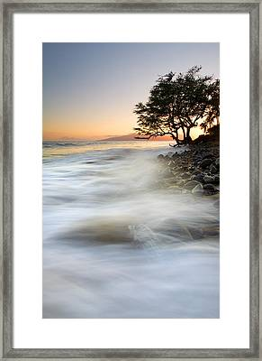 One Against The Tides Framed Print by Mike  Dawson