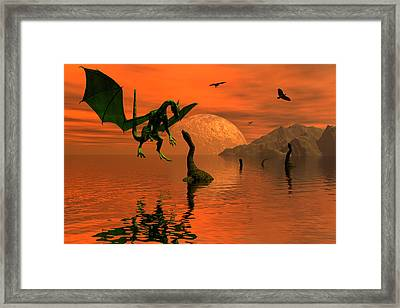 One Against Three Framed Print by Claude McCoy