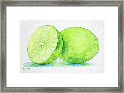One And A Half Limes Framed Print