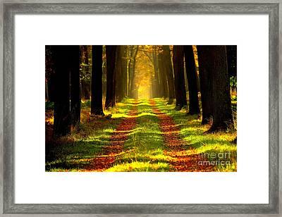 One Autumn Day Framed Print by Thomas Jones