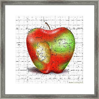 One Bad Apple Framed Print by Cristophers Dream Artistry