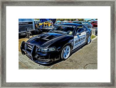 One Bad Ass Squad Car Framed Print by Tommy Anderson