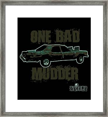 One Bad Mudder Framed Print by George Randolph Miller