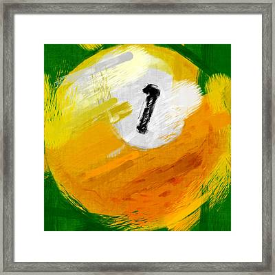 One Ball Abstract Framed Print by David G Paul