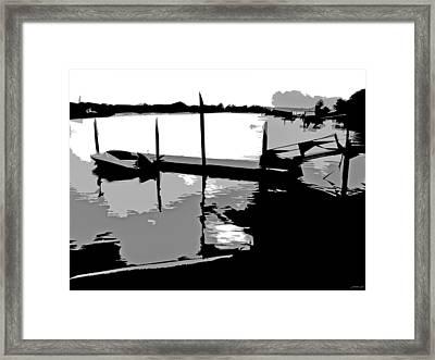 One Boat Framed Print by JoAnn Lense