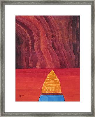 One Brush Original Painting Framed Print by Sol Luckman