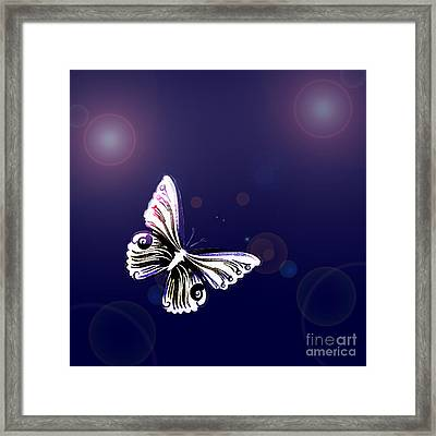 One Butterfly Framed Print by Tanja Riedel