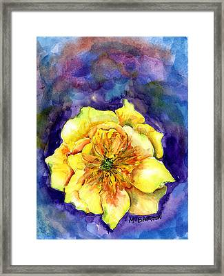 One Cactus Flower Framed Print by Marilyn Barton
