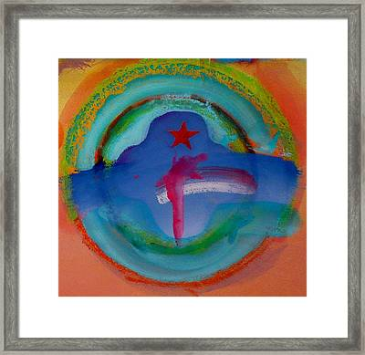 Framed Print featuring the painting one by Charles Stuart