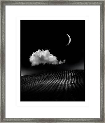 One Cloud Framed Print by Mal Bray