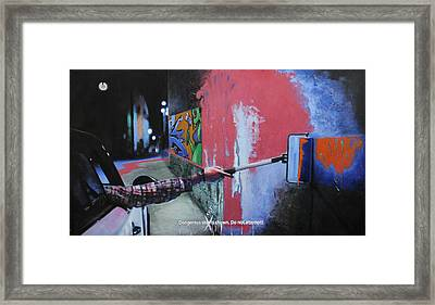 One Coat Framed Print by Richard Barone