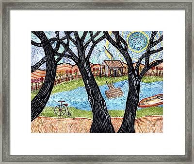 One Country Home Framed Print