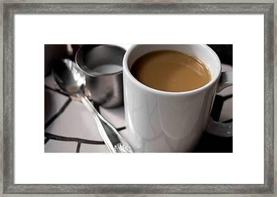 One Cup Of Coffee Framed Print by JAMART Photography