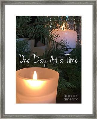 One Day At A Time Framed Print by Jenny Revitz Soper