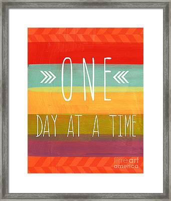 One Day At A Time Framed Print by Linda Woods